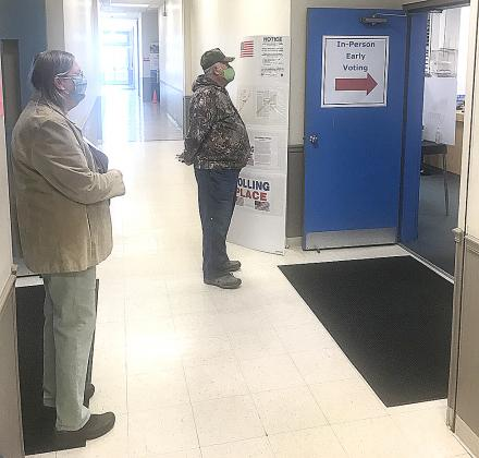 Pendleton County voters were already in line on opening day of voting in-person in Kentucky.